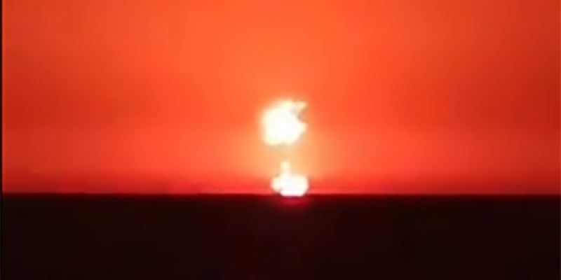Nükleer bomba gibi patladı
